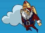 Санта на ракете