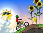 Счастливый мотоциклист